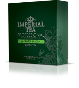 Зеленый чай «Японская липа» 20 пакетиков по 4 г. 12 шт. гофрокоробе