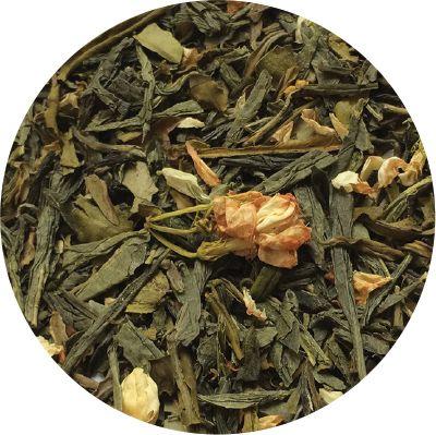 Зеленый чай с жасмином 100 г. 56 пачек в гофрокоробе
