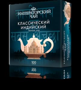 Черный классический индийский чай «Императорский чай», 100 пакетиков., 18 шт.