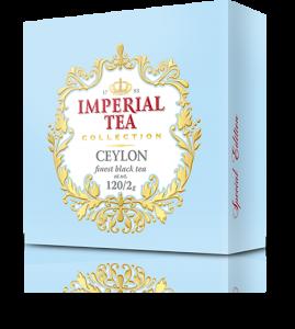 Черный чай цейлонский 120 пакетиков по 2 г. 8 шт. в гофрокоробе