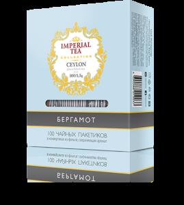 Черный цейлонский чай бергамот 100 пакетиков по 1,5 г. 10 шт. в гофрокоробе