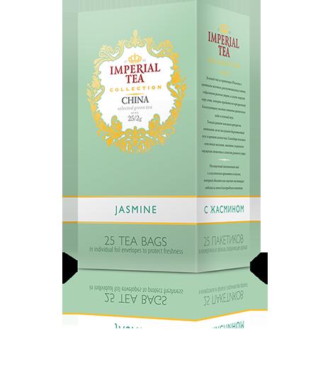 Зеленый чай с жасмином 25 пакетиков по 2 г. 20 шт. в гофрокоробе