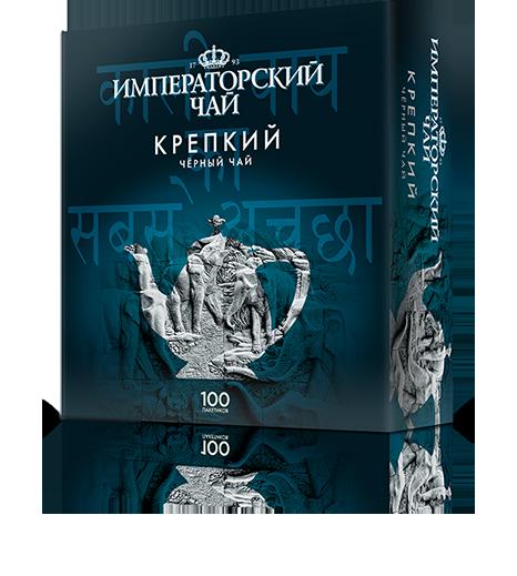 Черный крепкий чай «Императорский чай» 100 пакетиков 18 шт. в коробе