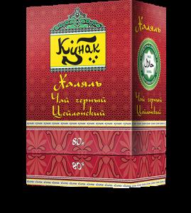 Черный цейлонский чай «Кунак» мелколистовой 80 г. 36 пач. в гофрокоробе