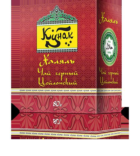 Черный цейлонский чай «Кунак» мелколистовой, 80 г., 36 пач.