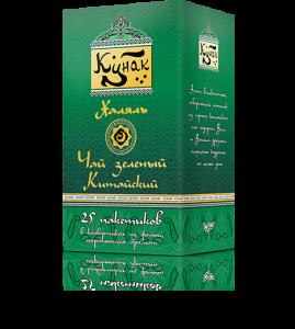 Зелёный чай «Кунак» 25 пакетиков по 1,7 г. 18 шт. в гофрокоробе