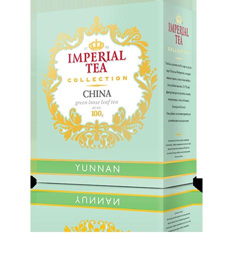 Зеленый чай юньнань 100 г. 56 пачек в гофрокоробе
