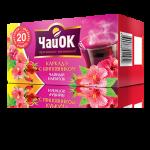 Чайный напиток «ЧайОК» каркаде с шиповником, 20 пакетиков, 56 пачек