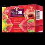 Черный чай с ароматом малины «ЧайОК», 20 пакетиков, 56 пачек