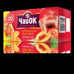 Черный чай с ароматом персика «ЧайОК», 20 пакетиков, 56 пачек