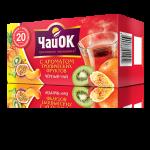 Черный чай с ароматом тропических фруктов «ЧайОК», 20 пакетиков, 56 пачек