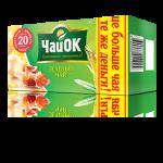Зелёный чай «ЧайОК» 20 пакетиков по 1,7 г. 56 пачек в гофрокоробе