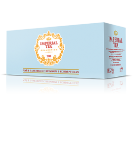 Чай в гофрокоробе с ярлыком в конвертах 500 пакетиков