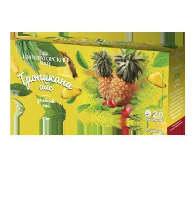 Чай «Тропикана айс» 20 пакетиков по 1,5 г. 32 шт. в гофрокоробе