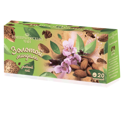 Чай «Золотой миндаль» 20 пакетиков по 1,5 г. 32 шт. в гофрокоробе